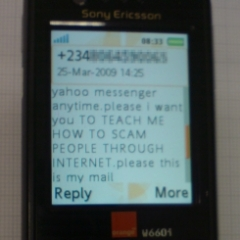SMS from the scammer #2