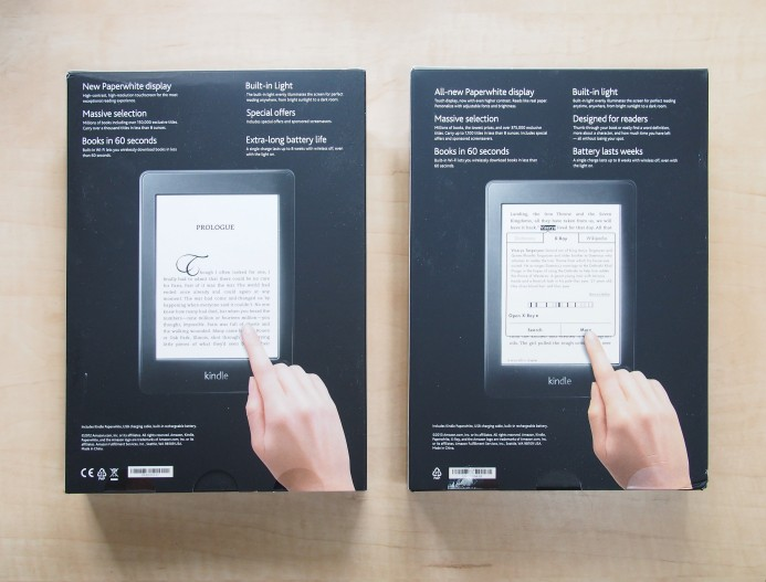 Kindle Paperwhite - Differences between first (2012) and