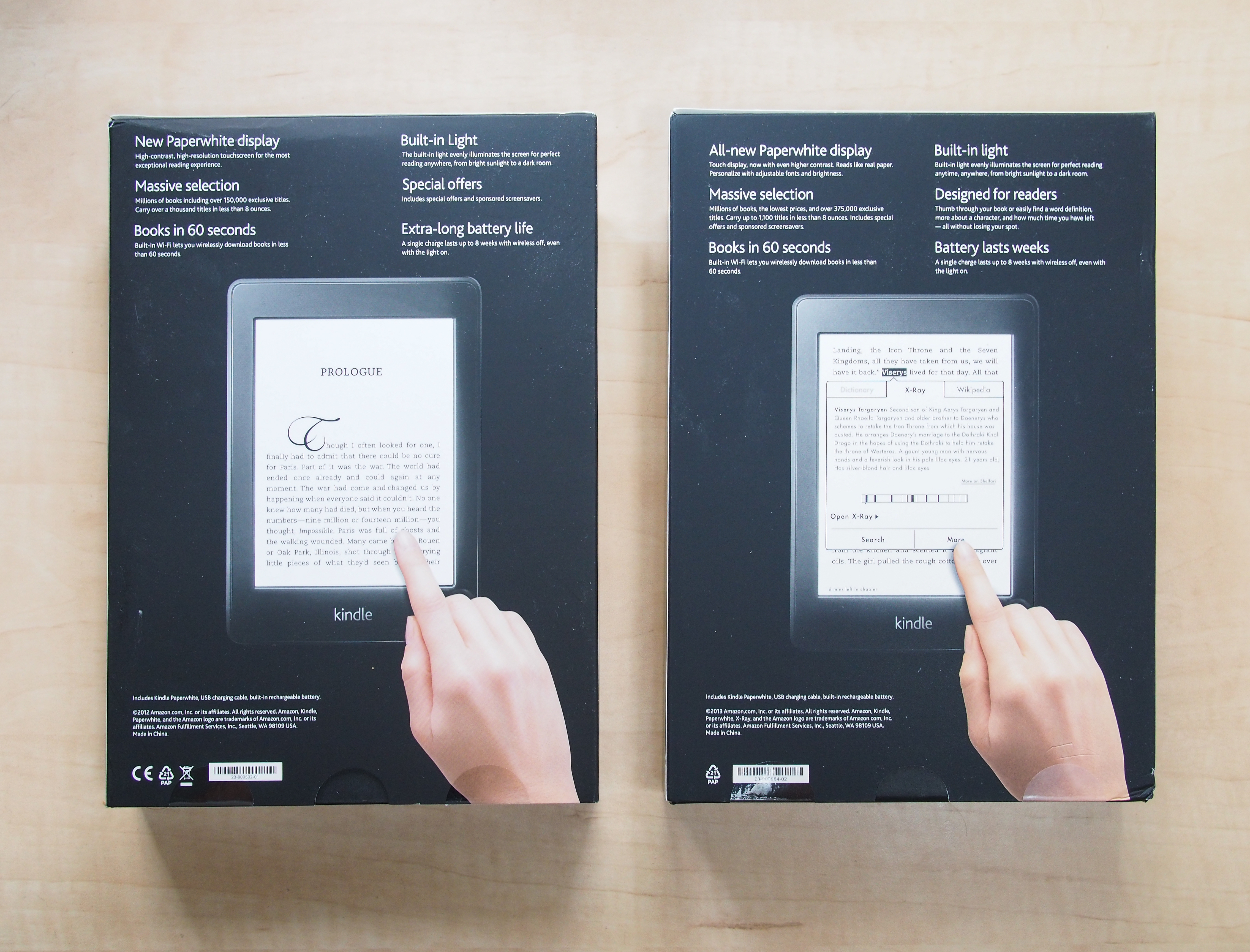 Kindle Paperwhite - Differences between first (2012) and second