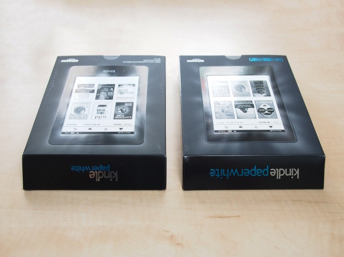 Kindle Paperwhite - Top of the boxes