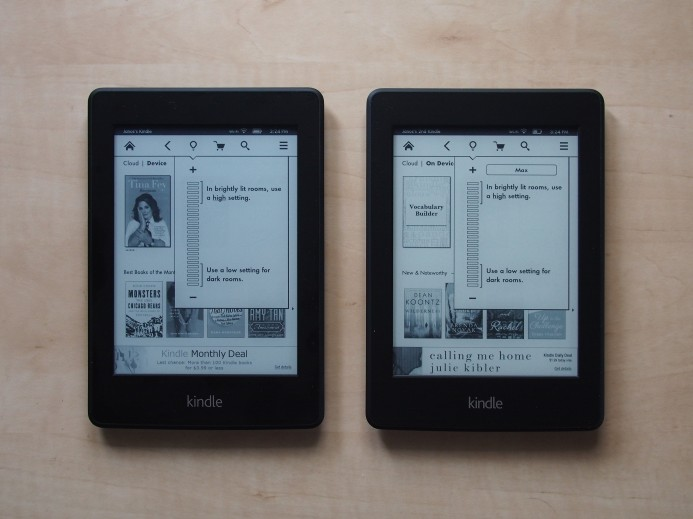 Kindle Paperwhite - Home screen - Minimum Light