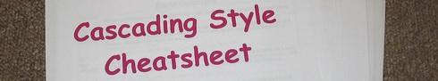 Cascading Style Cheatsheet