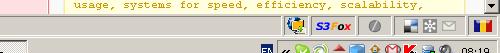 Firefox Status Bar with Flagfox