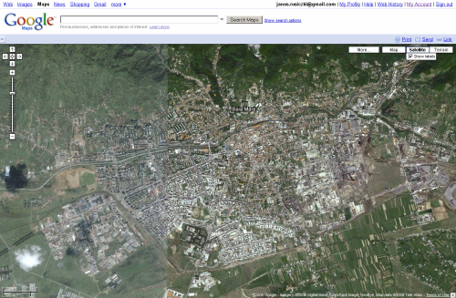 Screenshot of Google Maps with Baia Mare centered