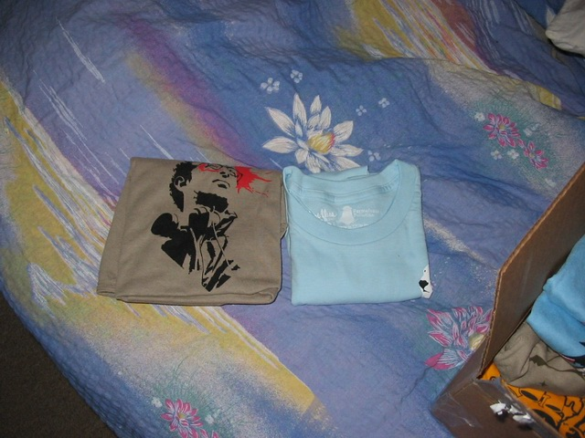My tee is on the left, Ioana's is on the right