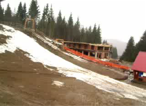 Webcam image of Roata slope at Cavnic (2008-04-18)