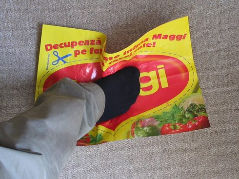 Whoops! I stepped on Maggi!